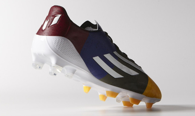 f60db1c0451 Adidas combines the colorful boot with white logos and a white outsole
