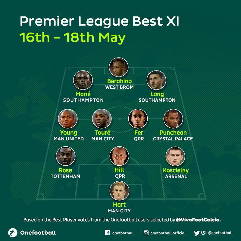 Premier League Best XI 16-18May